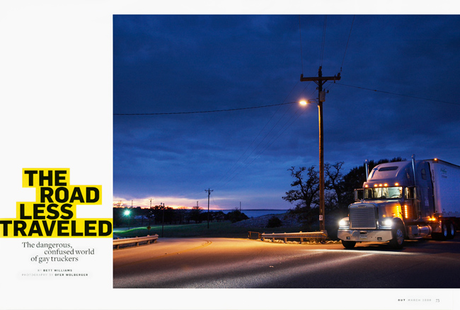 The Road Less Traveled, Out Magazine, March 2008